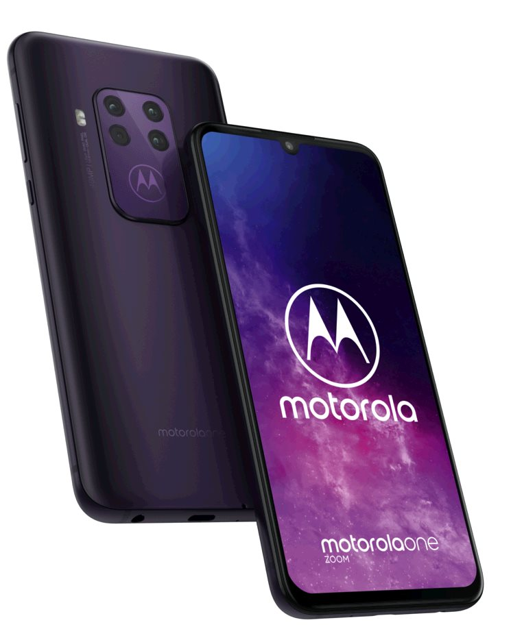 Motorola One Zoom 4+128GB OIS gsm tel. Cosmic Purple