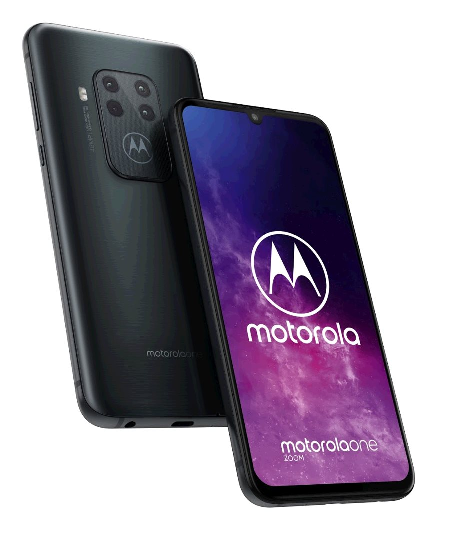 Motorola One Zoom 4+128GB OIS gsm tel. Electric Grey