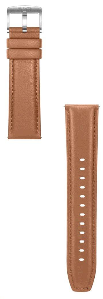 Huawei Original Kožený řemínek Brown pro Watch GT 2 (EU Blister)