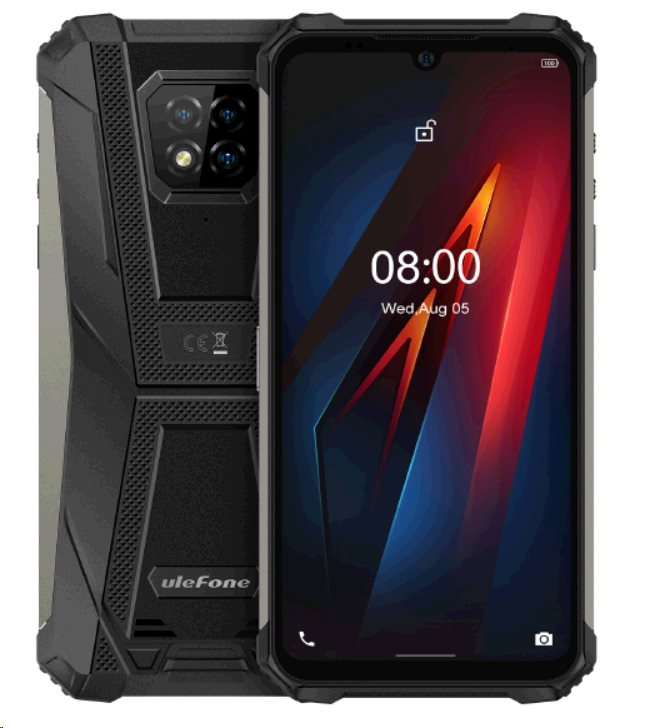 UleFone Armor 8 PRO 8+128GB Dual SIM gsm tel. Black