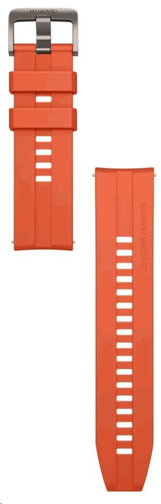 Huawei Original Silikonový řemínek Orange pro Watch GT 2  (EU Blister)