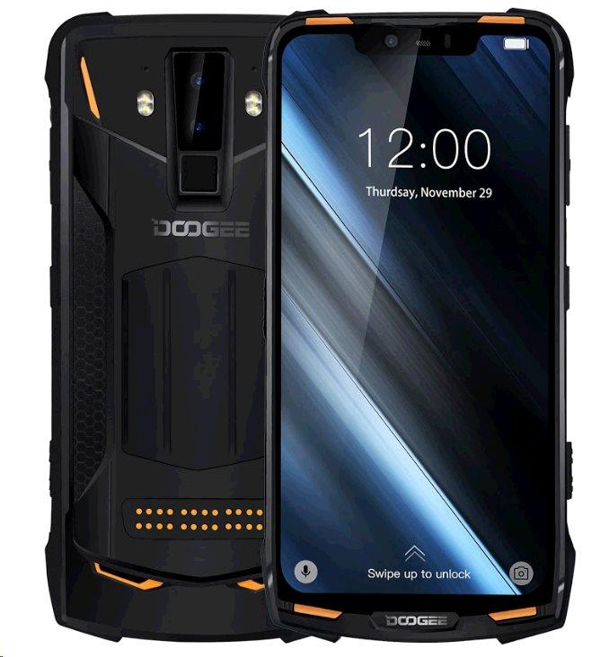 Doogee S90 Super Set DualSIM gsm tel. 6+128GB + Powerbank + Walkie Talkie + Night Vision Modules Orange